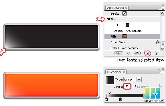 Illustrator运用3D效果制作网页按钮