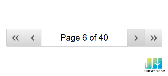 div> 很简单,在页面上陈列了4个翻页按钮和一个页码