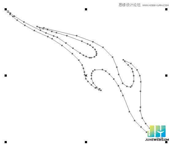使用CorelDraw来绘制时尚的蝴蝶花纹图案教程