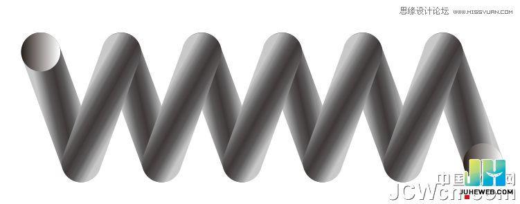 CorelDraw绘制立体逼真的弹簧教程