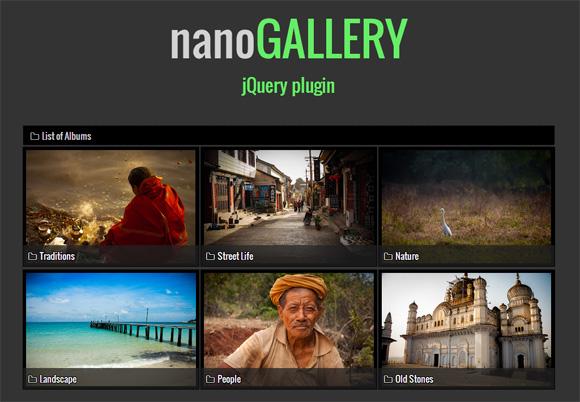 强大的支持触摸图片弹出层放大全屏浏览jQuery插件nanoGALLERY 画廊