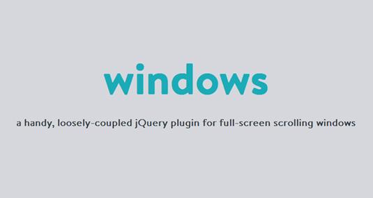 一款方便的全屏滚动jQuery插件
