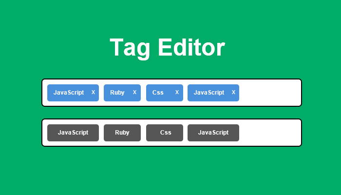 jQuery标签文本输入转换成一个漂亮的Tag列表插件
