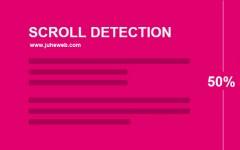 判断高度显示头部跟随屏幕滚动Scroll detection