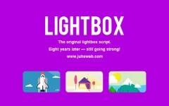 最新Lightbox点击图片放大相册效果