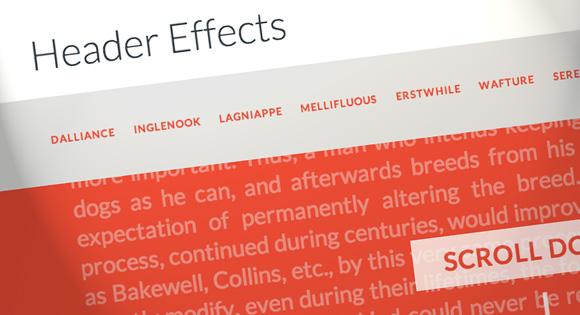 jQuery多种头部固定跟随屏幕滚动变换效果Header Effects插件
