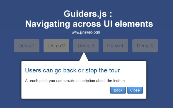 Guiders网站向导弹出层提示js效果