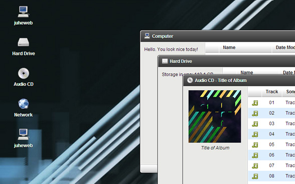 精美模拟windows桌面效果jquery插件