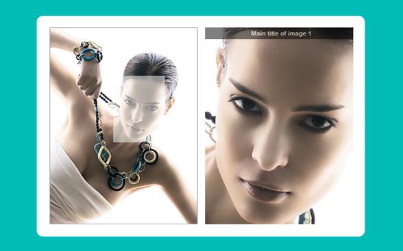 jquery产品相册图片放大镜效果